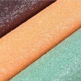 tessuto robusto di scintillio del cuoio del PVC 3D per la carta da parati, pattini, sacchetti, tappezzeria