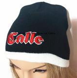 100%Acrylic, gorrita tejida hecha punto sombrero hecha punto