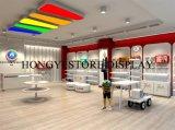 Hubscheの子供機能靴ラック2層に合う店は皿のカウンターの表示子供の靴のデスクトップのショーケースを倍増する