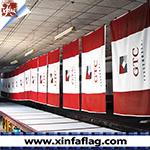 Indicador grande de la bandera de la bandera ancha al aire libre colorida