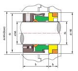Механически уплотнение, уплотнение насоса вортекса, Burgmann H75, уплотнение Multi-Весны