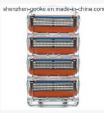 5 capas promocional con la máquina de afeitar del hombre del condensador de ajuste para la energía de fusión de Gillette en cuenta del rectángulo 4