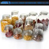 Tarro del almacenaje del cristal de botellas de Retrostyle para la cocina
