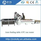 Ranurador cambiante del CNC de la carpintería de la herramienta auto con el cambio auto de la herramienta