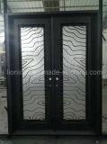 Конструкция 14 двойных дверей дверей входа ковки чугуна датчика стальная