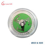 Монетка плоскости сувенира эмали сплава цинка мягкая для подарка