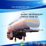 3 eixo 30t Flammable Liquid Fuel Oil Chemical Tank Semi Truck Trailer (49.9m³) (LAT9400GRY)