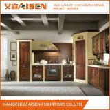 2016木台所家具の現代的な純木の食器棚