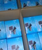 Sistema de iluminación solar de la carga LED de tres cuartos de la fábrica ISO9001