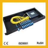 Enige ABS van de Module van de Wijze Mini Optische PLC van de Vezel van de Cassette FTTH 1X8 Splitser