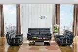 L sofà di cuoio moderno di figura, mobilia domestica (M0415)