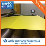 Опаковый желтый лоснистый твердый лист PVC для ценников офсетной печати