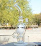 Pipe de fumage en verre soufflée par main en gros de conduite d'eau de ravitailleur d'usine