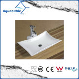 Le bassin et le mur en céramique d'art de Module ont arrêté le bassin de lavage des mains (ACB8325)