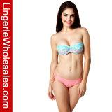 Hoogste Verband Sexy Swimwear van de Bikini van Flirty Lace-up Afgedrukte voor Vrouwen