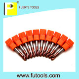 Broca do ponto do carboneto de Tunsten de 2 flautas para a perfuração do metal