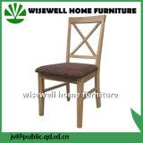 Cadeira de jantar traseira da cruz da madeira de pinho (W-C-1723)