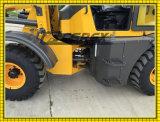 Ce 0.8 toneladas 1.0 toneladas 1.5 carregador pequeno do feno do estojo compato 4WD da tonelada