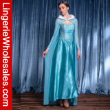 Principessa Elsa Cosplay Costume della neve del vestito da partito di Elegent Halloween delle donne