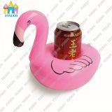 De opblaasbare Drijvende Vlotters van het Tin van de Kola van de Flamingo, de Houders van de Drank, de Houder van de Kop