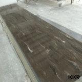Hoja superficial sólida blanca de la losa grande del material de construcción 12m m para el panel de pared