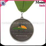 Медали перекрестной страны отделки Sandblast античного бронзового изготовленный на заказ металла уникально