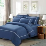 Navy Blue Home Collection Best Egyptian Cotton Embroidery Bedding Set (DPF10703)