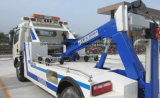 Camion de remorquage de la dépanneuse 4*2 de route de Dongfeng LHD Rhd