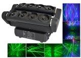 8つのヘッド8目RGBレーザーのくも移動ヘッドレーザー光線