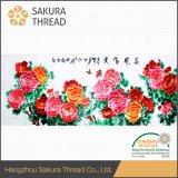 Oeko-Texのクラス1の抽象的な中国の花のホーム刺繍の装飾的な絵画