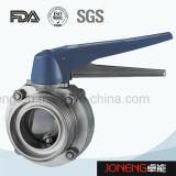 Valvola a farfalla saldata sanitaria dell'acciaio inossidabile con la breve estremità (JN-BV5001)