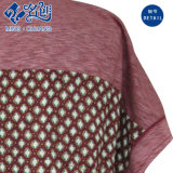 Dark-Red Short Sleeve Plaid Loose Soft Sexy Fashion Ladies Blouse