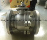 плавая стандарты API шарикового клапана 2PC с нержавеющей сталью RF