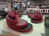 Sofà moderno del salone con il sofà d'angolo di cuoio sezionale di figura di U