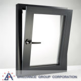 De aluminio con revestimiento de madera Ventana basculante y giratoria