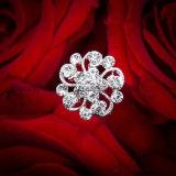 Perla nupcial broche de diamantes de imitación joyas ramo de la boda