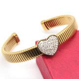 brazalete en forma de corazón del reloj de la pulsera 316L