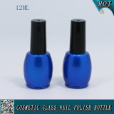 Botella de polaco de uñas de gel UV de color personalizado de 12 ml de color azul