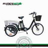 Triciclo eléctrico del cargo del litio del marco de la aleación