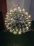 Lámpara pendiente moderna inoxidable del acero LED para la iluminación del hotel (B50-302)