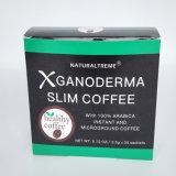 Ganodermaのきのこが付いているコーヒーを細くする有機性減量