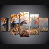 HD imprimió la pintura de la pintura de los ciervos en la lona Mc-008 del cuadro del cartel de la impresión de la decoración del sitio de la lona
