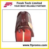 Bolso cosmético de cuero promocional del PVC con insignia
