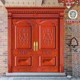 Porta exterior cinzelada de madeira antiga da entrada dianteira dobro do auditório (GSP1-026)