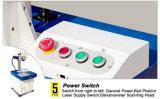 Preiswerte Metallfaser-Laser-Markierungs-Maschine des Portable-20 W für Potenziometer, Telefon-Kasten