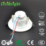 face Embeded DEL Downlight de courbe de puce du CREE 3W avec le GS