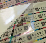Transparente Transparente Personalizar Diseño Ventana de ventana Vehículo Auto Adhesivo PVC Vinyl Etiqueta Roll Material de impresión