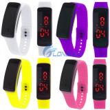 2016 relógios espertos dos esportes do pulso do bracelete do diodo emissor de luz de Digitas da faixa do silicone das mulheres e dos homens da forma