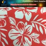 Flor tropical Impreso en tela de microfibra de poliéster para la camisa / ropa de playa (YH2130)