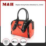 휴대용 빨강 PU 쇼핑 여자 핸드백 디자이너 핸드백